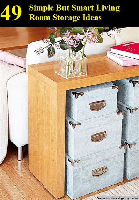 tips for smart living top diy ideas 49 simple but smart living room storage ideas home and
