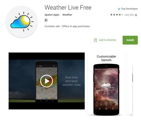 best weather app android top 10 weather android apps to use in 2017 worth of
