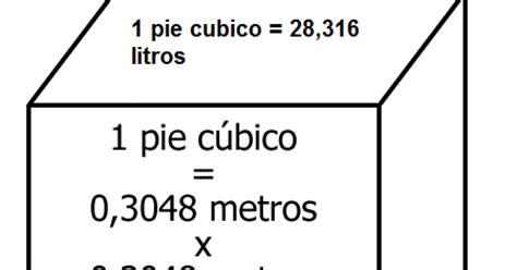 cuantos metros cuadrados tiene un metro cubico cuanto a cuanto equivale un pie cubico