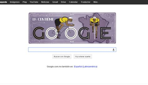 doodle de hoy de doodle en honor al centenario tour de francia chilango