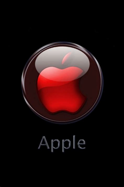 iphone wallpaper hd apple logo hd iphone wallpaper red crystal apple logo