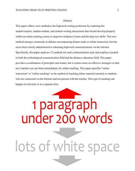 format the abstract page in apa style 6th edition