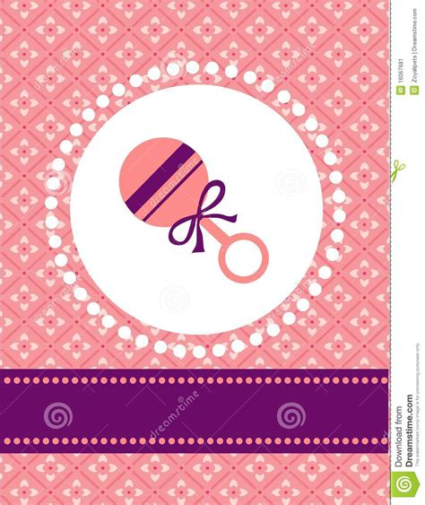 baby card templates baby card template stock image image 16067681