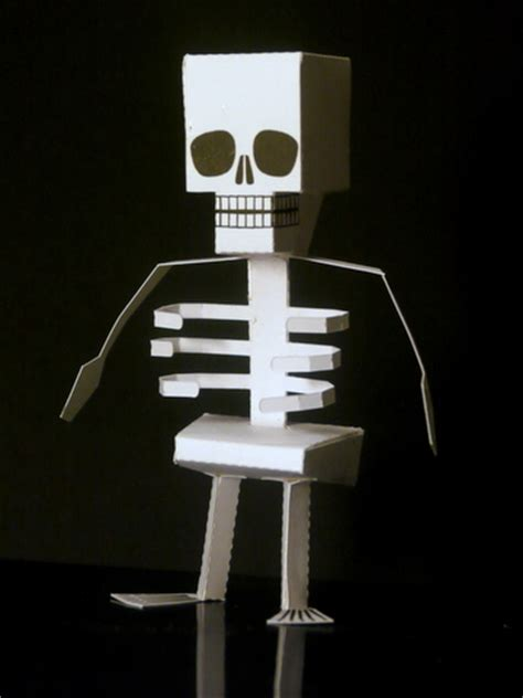 How To Make Skeleton With Paper - papercraft skeleton a papecraft project for