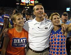Urban meyer wife shelley right and daughter gigi celebrate after