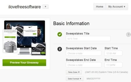 Create Sweepstakes - 5 free websites to create sweepstakes online