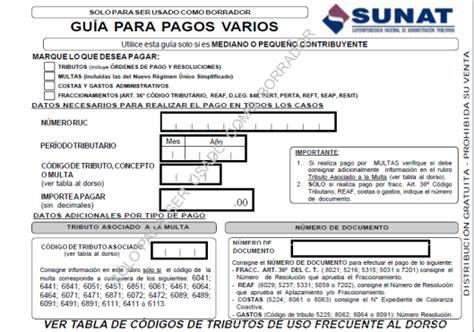 guia de pagos varios 2016 formularios arrendamiento f 1683 nuevo r 233 gimen 218 nico