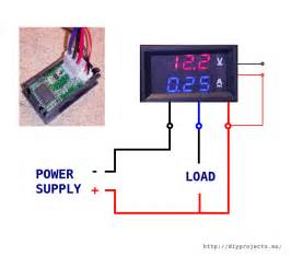 how to wire digital dual display volt and ammeter diy projects