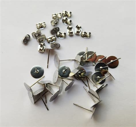 hypoallergenic surgical stainless steel stud earrings 8 mm