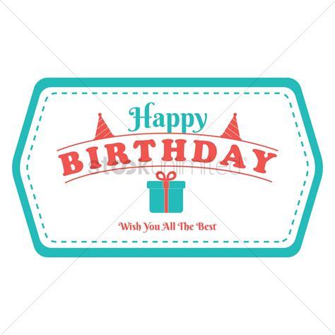 happy birthday sticker design happy birthday label design vector image 1799563