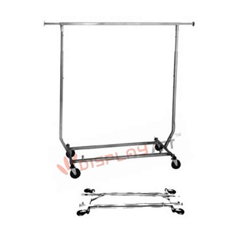 Salesman Rack Collapsible Rolling by Folding Collapsible Rolling Salesman Garment Rack Heavy