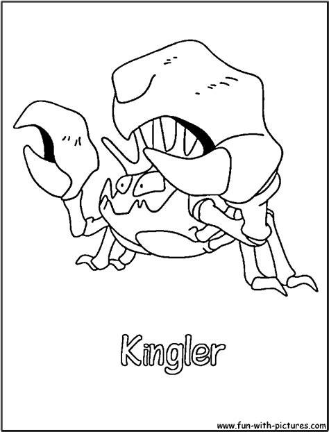 pokemon krabby coloring pages krabby pokemon coloring pages images pokemon images