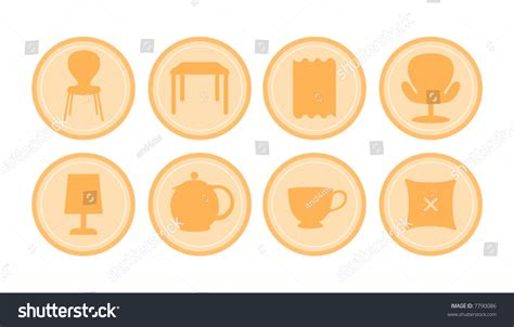 design elements furniture design elements furniture stock vector illustration