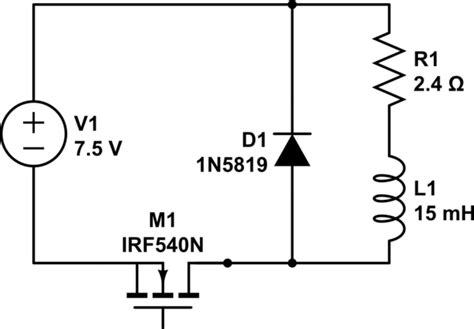 pwm inductor current mosfet estimate current through inductor in dc circuit with pwm electrical