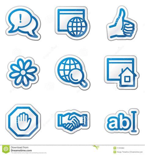 imagenes iconos web iconos del web del internet serie azul de la etiqueta