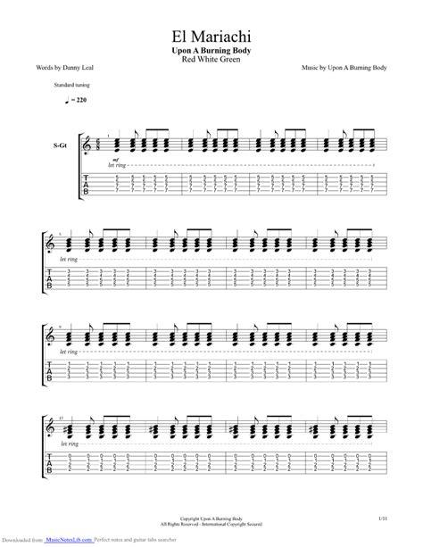 Tab El El Mariachi Guitar Pro Tab By Upon A Burning