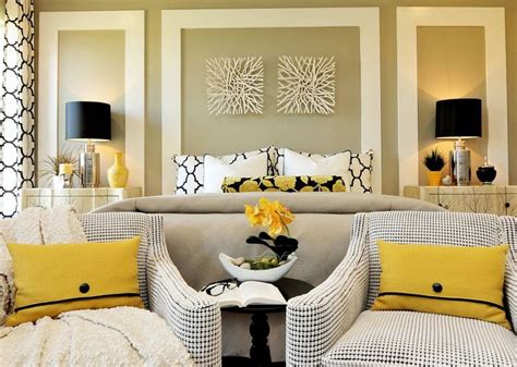 Yellow Master Bedroom Lemon Yellow Crisp White And Bold Black Combine To