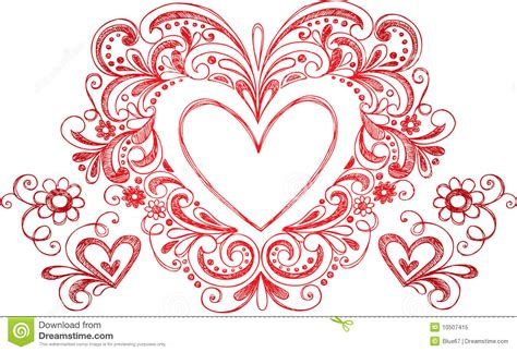 free doodle hearts sketchy doodle vector royalty free stock photo
