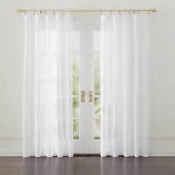 White Sheer Curtains Linen Sheer White Curtains Crate And Barrel