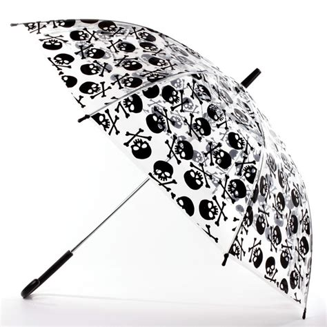 skull pattern umbrella skull umbrella clear cute but not collapsible wish