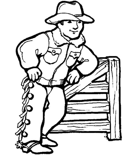 Cowboy Coloring Pages Free And Printable | free printable cowboy coloring pages for kids
