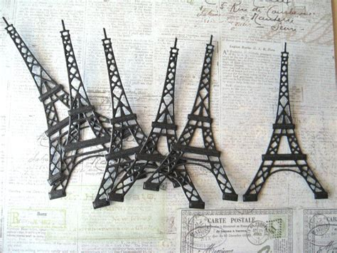 How To Make A Paper Eiffel Tower Step By Step - eiffel tower die cuts black pearl cardstock 6 pcs