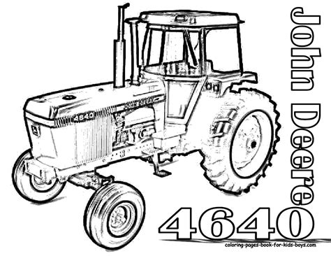 free tractors to print coloring pages