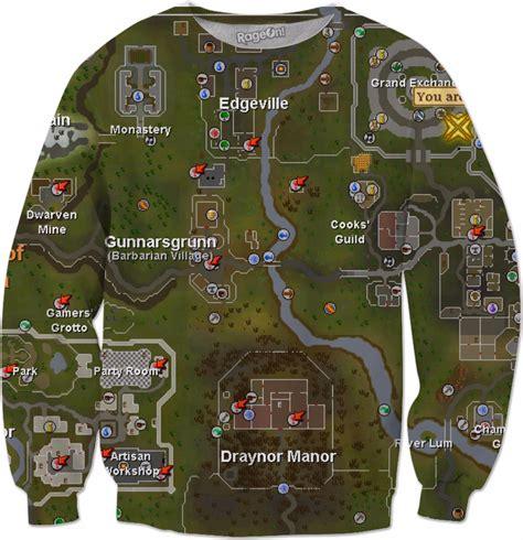 runescape school map osrs map sweatshirt runescape school sweater