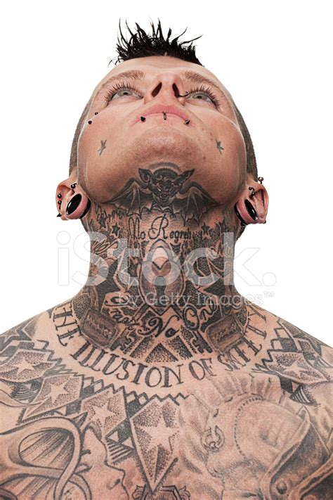neck tattoo no job neck tattoo stock photos freeimages com