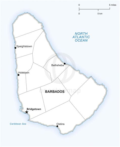 political map of barbados vector map of barbados political one stop map