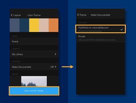color capture capture color themes adobe capture cc tutorials