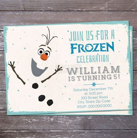 printable olaf party invitations 17 best images about party ideas disney s frozen invites
