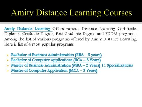 5 Year Bs Mba Program by Amity Distance Learning Vs Smu Distance Learning