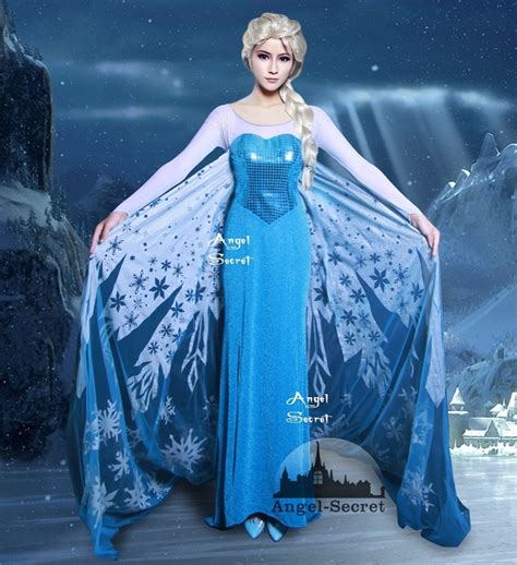 Elsa Costume Handmade - j698 frozen snow elsa costume dress