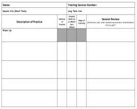 Session Plan Template by Pin Session Plan Template Pdf On
