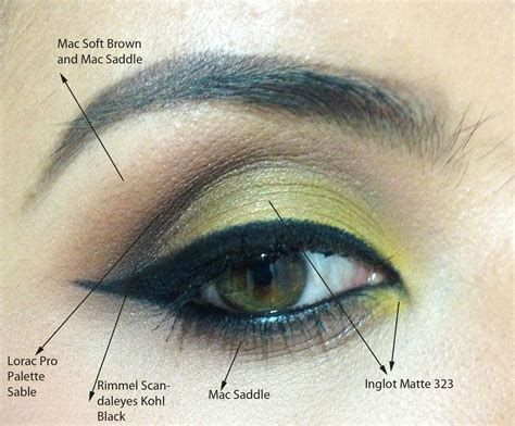eyeshadow diagram fotd eotd yellow and warm brown smokey eye with