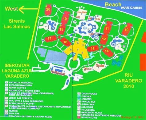 azul resort map site map picture of iberostar laguna azul varadero
