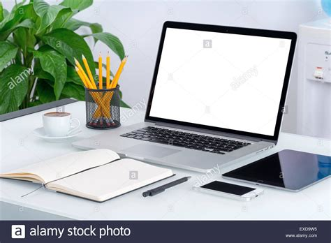 microsoft office notebook layout for pc laptop mockup with tablet computer smartphone and
