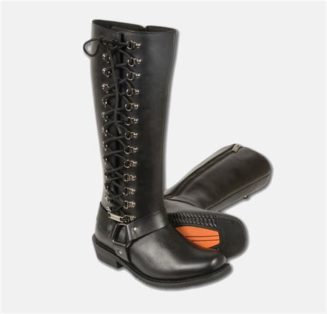 buy motorcycle boots online women s motorcycle leather boots 14 inch waterproof square
