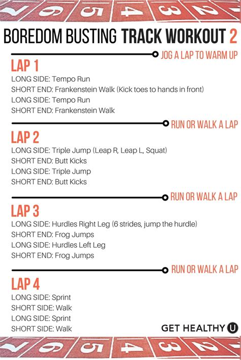 a boredom busting track workout that burns mega calories
