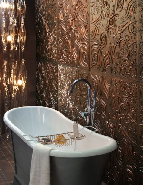 dxu copper tiles batavia series traditional bathroom