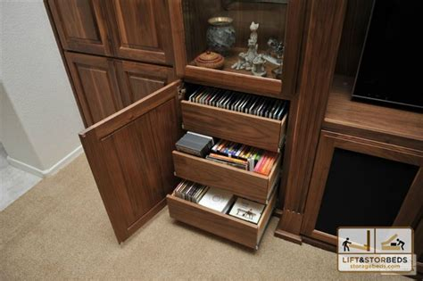 entertainment center with dvd drawers storage beds wall beds hidden beds diy lift stor beds