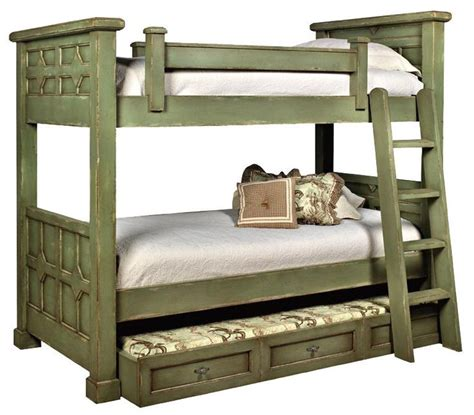 Wooden Bunk Bed With Trundle Best 25 Solid Wood Bunk Beds Ideas On Bunk Beds With Mattresses Bunk Bed Mattress