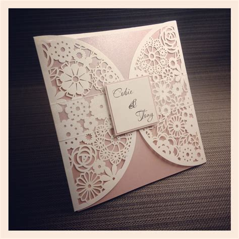 How To Make Paper Cut - luxe laser cut wedding invitation simply stunning stationery