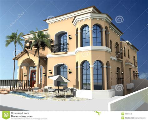 spanish style villa spanish style villa royalty free stock photo image 13931945