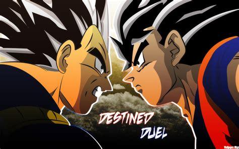 wallpaper anime dragon ball goku vs vegeta wallpaper 323844