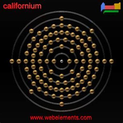 californium number of protons californium