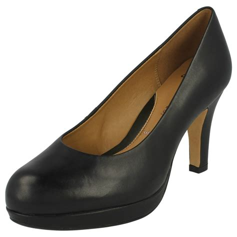 clarks high heel softwear court shoes anika kendra