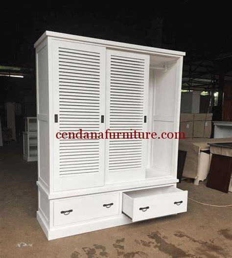 Almari Lemari Pakaian Laci Pintu 2 Minimalis Teak Furniture lemari pakaian minimalis ventilasi 3 pintu almari