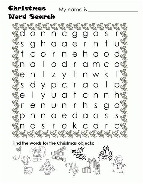 printable navidad word search fichas de ingl 233 s para ni 241 os christmas word search